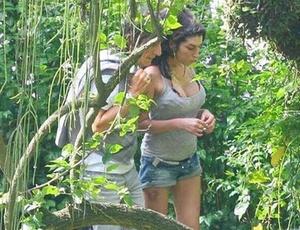 Ron Wood visita Amy Winehouse no Rio