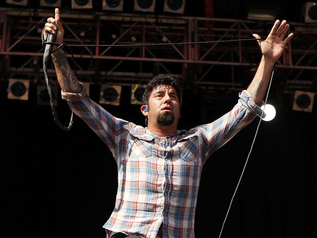O vocalista Chino Moreno durante apresentação do Deftones no Big Day Out Festival em Auckland, na Nova Zelândia (21/01/2011)