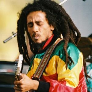 Bob Marley durante apresentação no Crystal Palace Bowl de Londres, na Inglaterra (07/06/1980)