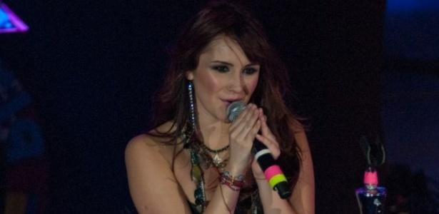Dulce María durante show no Rio de Janeiro, com a turnê