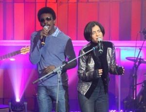 Seu Jorge e Marina Lima fazem dueto na gravação do