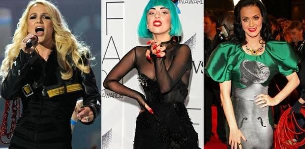 As cantoras Britney Spears, Lady Gaga e Katy Perry: todas com músicas censuradas na China