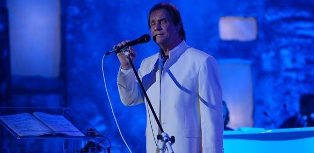 O cantor Roberto Carlos durante show em Jerusalém, na última quarta-feira (7/9/11)