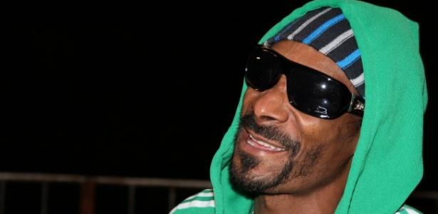 O rapper norte-americano Snoop Dogg em entrevista no Rio (7/11/2011)