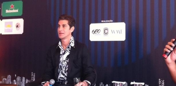 Perry Farrell, do Jane's Addiction, em coletiva de imprensa do Lollapalooza Brasil, em São Paulo (21/11/11)