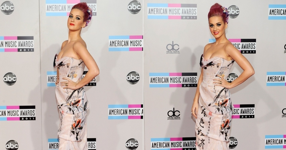 Katy Perry na chegada ao AMA