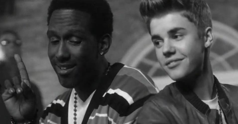 Justin Bieber em cena do clipe