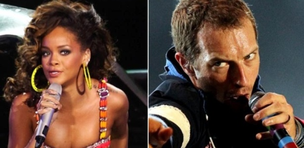 Montagem de Rihanna (esq.) e Chris Martin, do Colplay (19/1/12)