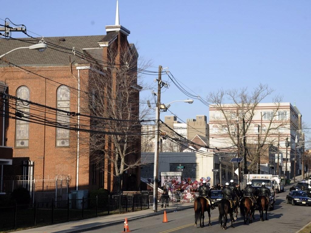 Igreja batista de New Hope, momentos antes do funeral da cantora norte-americana Whitney Houston