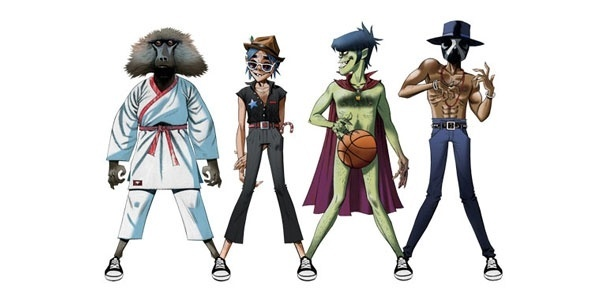 Gorillaz tambm lanou nova linha de tnis baseada na banda