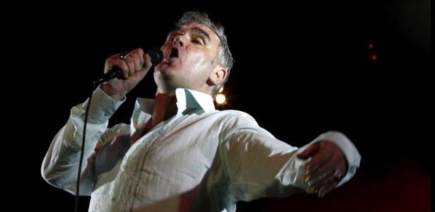 O ex-vocalista dos Smiths Morrissey durante show em Belo Horizonte (07/03/2012)