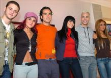 Os integrantes do grupo RBD na Cidade do México (23/07/2007)