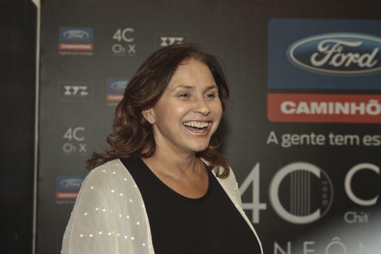 Cantora Fafá de Belém participa da gravação do DVD da dupla Chitãozinho e Xororó, que comemora 40 anos de carreira, em São Paulo (1/8/11)