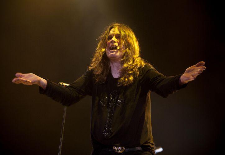 Ozzy Osbourne durante show em São Paulo no qual cantou clássicos do Black Sabbath e de sua carreira solo (02/04/2011)