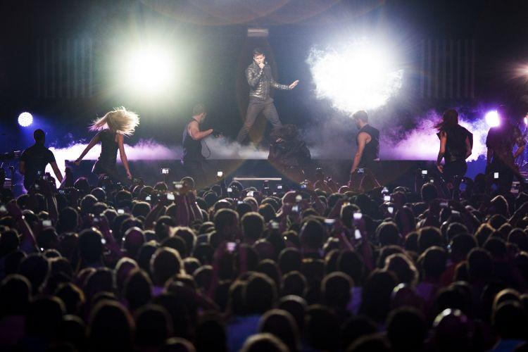 Ricky Martin canta na 45ª edição do Festival de Montreux, na Suiça (06/072011)