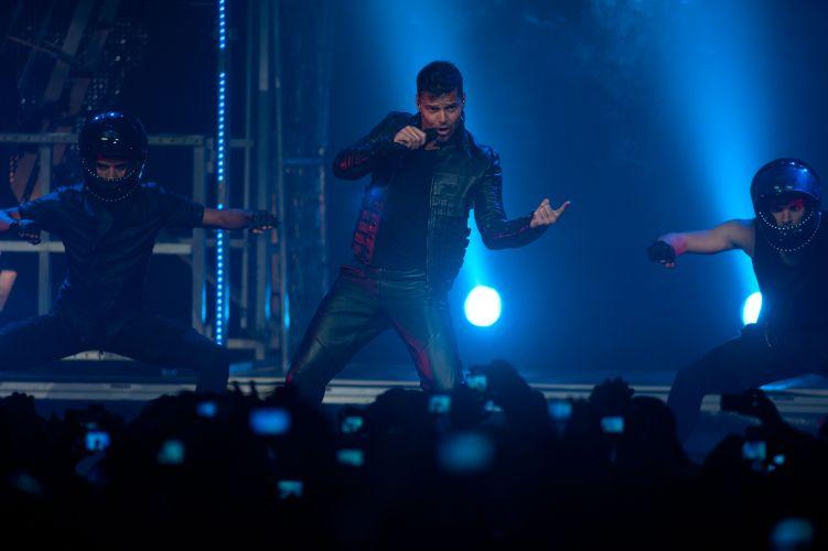 O cantor Ricky Martin se apresenta no Rio de Janeiro