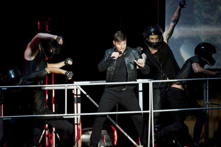 O cantor porto-riquenho Ricky Martin se apresenta Porto Alegre com a turnê