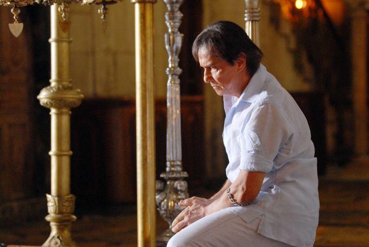 Roberto Carlos visita a Basílica Santo Sepulcro que, segundo o cristianismo, é o local onde Jesus foi crucificado, em Jerusalém (3/9/11)