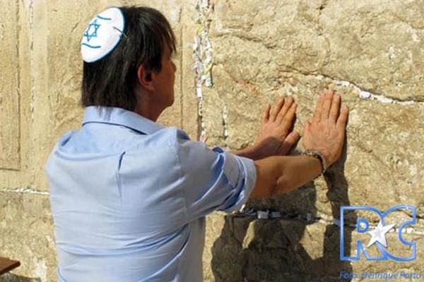 Roberto Carlos no Muro das Lamentações (4/9/11)
