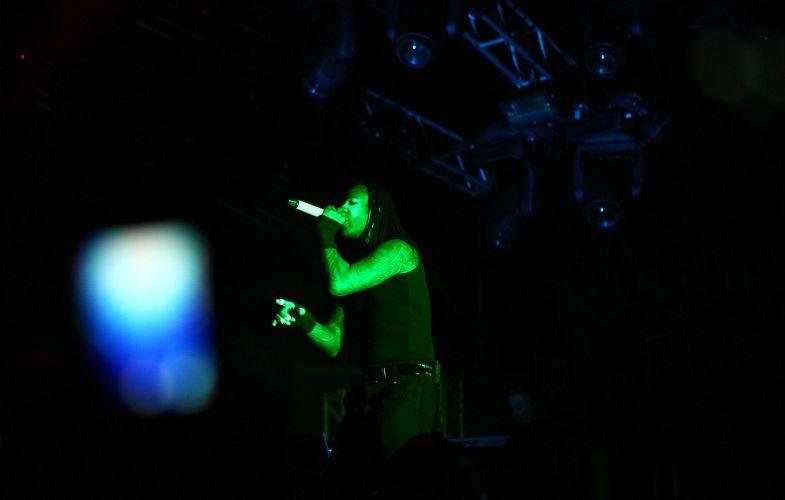 The Prodigy, atração principal do XXXperience, tocou no palco Main Stage do festival de música eletrônica, que ocorreu em Itu (10/12/2011)