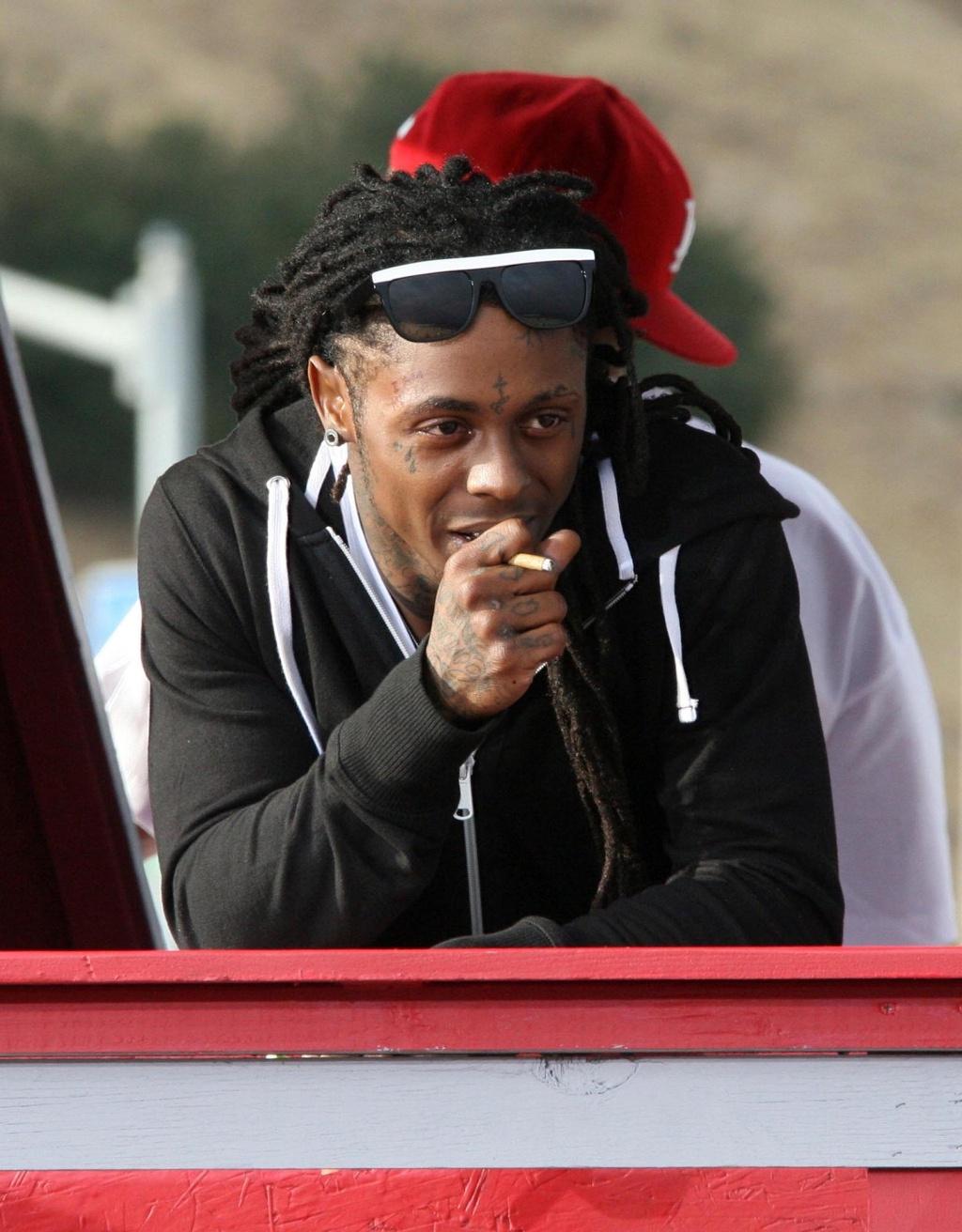 Lil' Wayne durante gravação do videoclipe