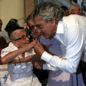 Dona Canô e Caetano Veloso em 2010 - Reginaldo Pereira/Agência A Tarde