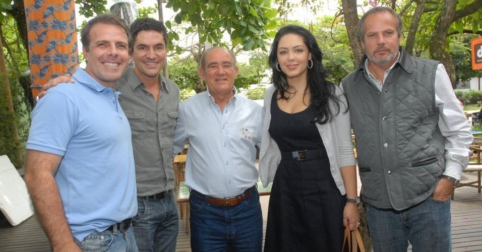 Rodrigo Veroneses, Renato Aragão, Tânia Mara e Jayme Monjardim no lançamento do especial