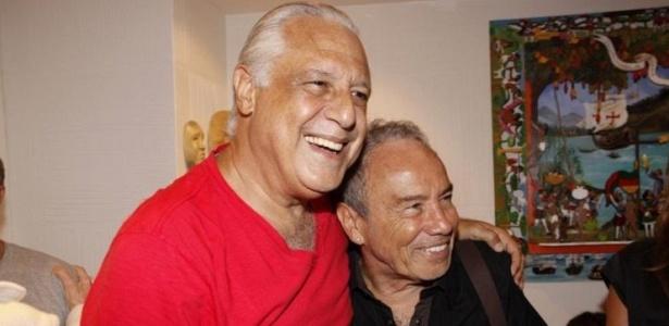 Antônio Fagundes e Stênio Garcia na pré-estreia da peça