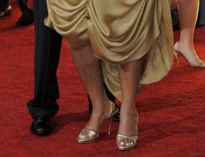 As pernas da atriz Mo'Nique no tapete vermelho do Globo de Ouro 2010 (17/1/2010)