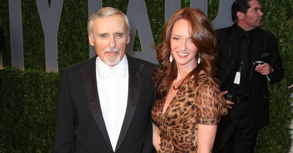 O ator Dennis Hopper e sua mulher Victoria Duffy na festa da Vanity Fair pós Oscar (22/2/2009)