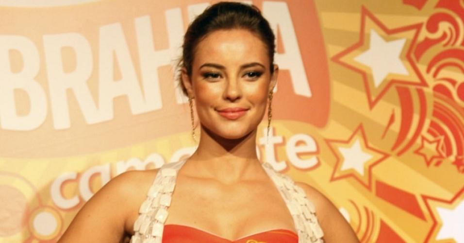 Paola Oliveira é anunciada como musa do camarote da Brahma em coletiva no Rio (21/1/2010)