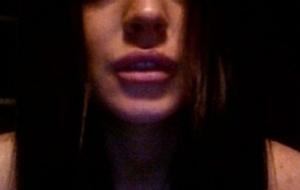 Foto da atriz Lindsay Lohan no Twitter, negando que colocou colágeno nos lábios (9/2/2010)