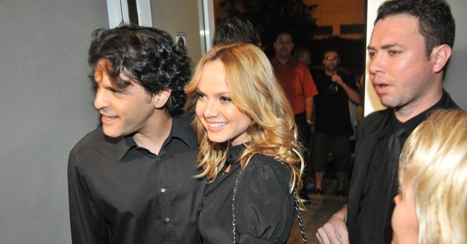 João Marcello Bôscoli e a apresentadora Eliana chegam no show de Macy Gray, no HSBC Brasil, em São Paulo, SP (26/5/08)