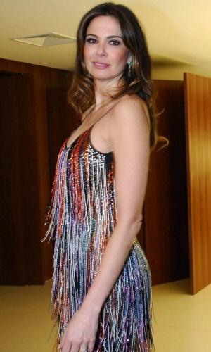 """Luciana Gimenez na inauguração do novo cenário do """"Superpop"""" (26/1/10)"""