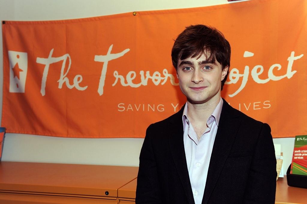 Ator britânico Daniel Radcliffe visita a ONG Trevor Project em Nova York, Estados Unidos (26/02/2010)