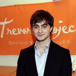 Ator britânico Daniel Radcliffe visita a ONG Trevor Project em Nova York, Estados Unidos