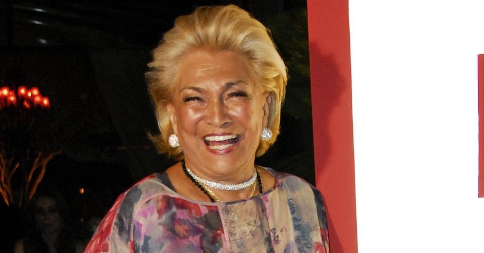 A apresentadora Hebe Camargo participa de evento de Amaury Jr. em São Paulo (11/12/2009)