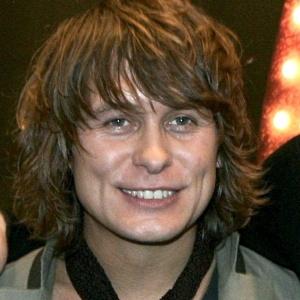 Mark Owen, da banda Take That, em coletiva de imprensa em Hamburgo, na Alemanha (21/12/06)