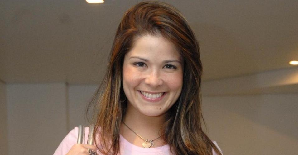 A atriz Samara Felippo no show Ana Carolina no Citibank Hall, no Rio de Janeiro (22/1/10)