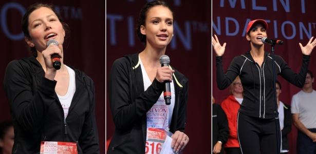 Jessica Biel, Jessica Alba e Halle Berry participam da Revlon Run/ Walk for Women em NY (01/05/2010)