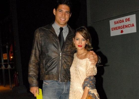 Marlos Cruz e Maytê Piragibe no Fashion Rio (27/5/10)