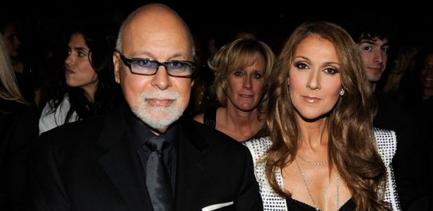 A cantora Celine Dion e o marido Rene Angelil no Grammy 2010 - Larry Busacca/Getty Images for NARAS