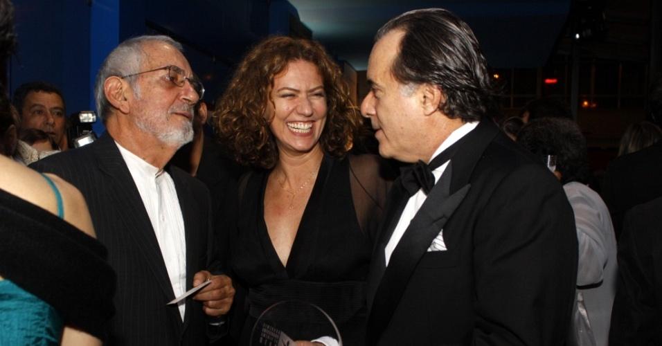 Paulo José, Patrícia Pillar e Tony Ramos no Grande Prêmio do Cinema Brasileiro no Teatro João Caetano, no Rio de Janeiro (8/6/2010)