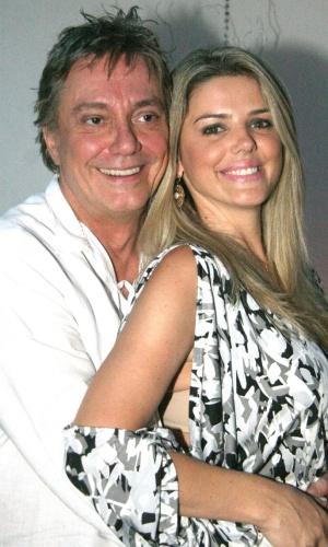 Fabio Jr. e a modelo Mari Alexandre em um show do cantor no Rio de Janeiro (29/1/2010)