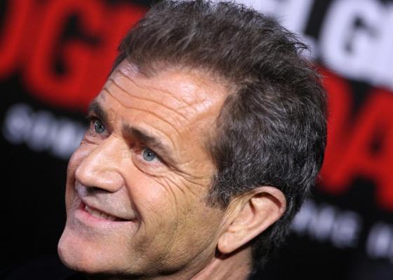 O ator Mel Gibson na première de