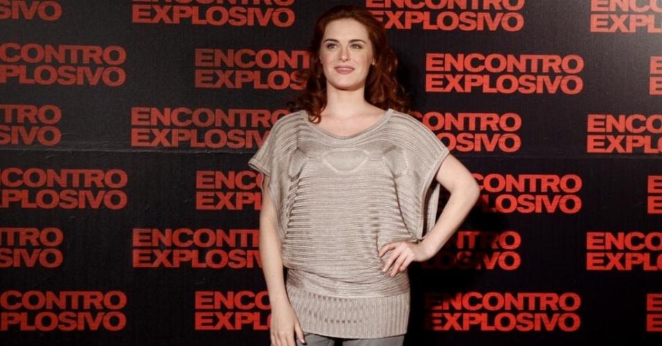 """Alessandra Maestrini durante a pré-estreia do filme """"Encontro Explosivo"""", no Rio de Janeiro (6/7/10)"""