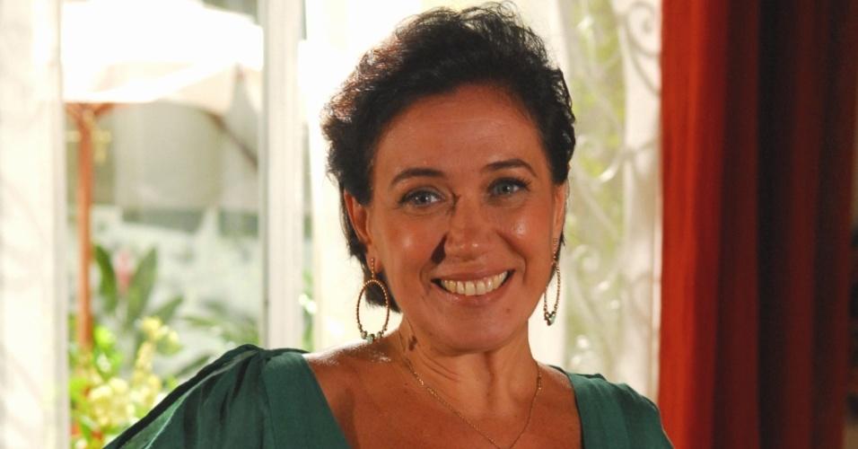 A atriz Lilia Cabral na novela