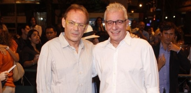 José Wilker e Marco Nanini na pré-estreia de