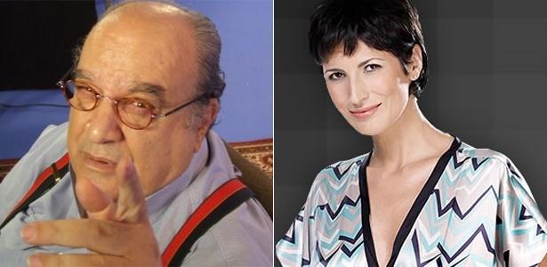 Os atores Antonio Abujamrra e Jacqueline Dalabona, que estarão no elenco de Corações Feridos, novela do SBT