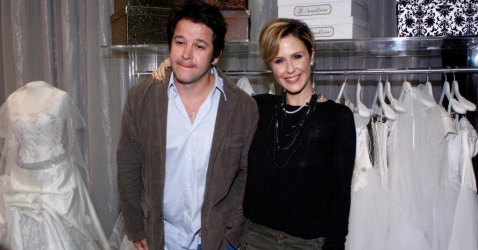 Murilo Benício e Guilhermina Guinle na coletiva de lançamento de